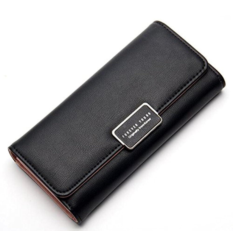 MOTOYOU 財布 二つ折り 長財布 レディーズ puレザー 人気 無地 女の子 レディース カード入れ スマホ収納 ファスナー かわいい おしゃれ オフィス 通勤 通学 6色 持ちやすい