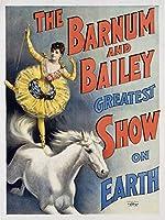 バーナムとベイリーGreatest Show on Earth (イエローバレリーナon Horse )ヴィンテージポスターUSA C。1894 24 x 36 Signed Art Print LANT-60064-710