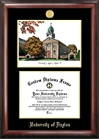 Campus Images OH994LGED University of Dayton Gold embossed diploma frame with Campus Images lithograph
