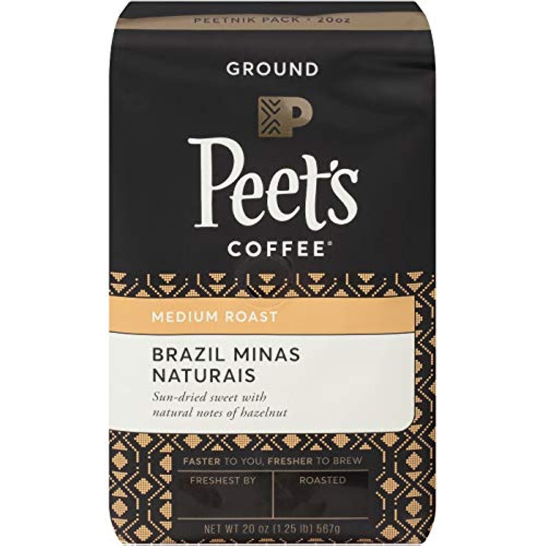 Peet's Brazil Minas Naturais ピート ブラジルミナスナチュレミディアムローストグラウンドコーヒー560g [並行輸入品]