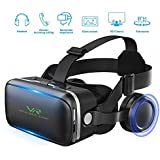 VR Headset, Virtual Reality Headset,VR Glasses,VR Goggles -for iPhone X/8/7/ 7+/6s/6 +/6/5, Samsung Galaxy, Huawei, Google, Moto & All Android Smartphone with Headphones & Adjustable Eye Care System