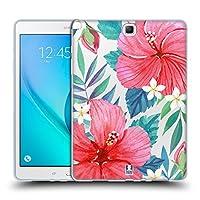 Head Case Designs トロピカル・ハイビスカス ウォーターカラー・フラワーズ 2 Samsung Galaxy Tab A 9.7 専用ソフトジェルケース