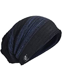 メンズ 大きいサイズのサマー ・ウィンター ニット帽 ニットキャップ ゆるビーニー帽 オールシーズン B306