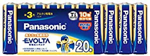 パナソニック EVOLTA 単3形アルカリ乾電池 20本パック LR6EJ/20SW