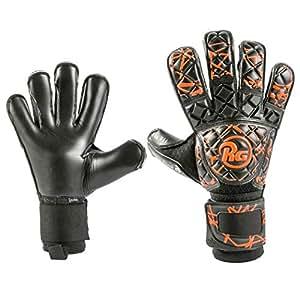 (アールジー)RG ゴールキーパー グローブ Snaga Black&Orange スナガ ブラック & オレンジ コンタクトブラックグリップ 橙(6, 号)