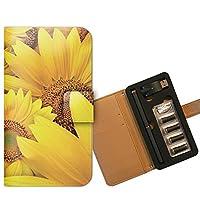 プルームテック ケース PloomTECH 手帳型 フラワー B004402_05 花 ひまわり ヒマワリ 向日葵