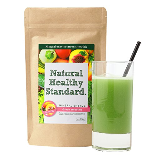 Natural Healthy Standard ミネラル酵素グリーンスムージー ピーチ味 200g