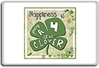 Happiness Is Finding A Four Leaf Clover - Motivational Quotes Fridge Magnet - ?????????