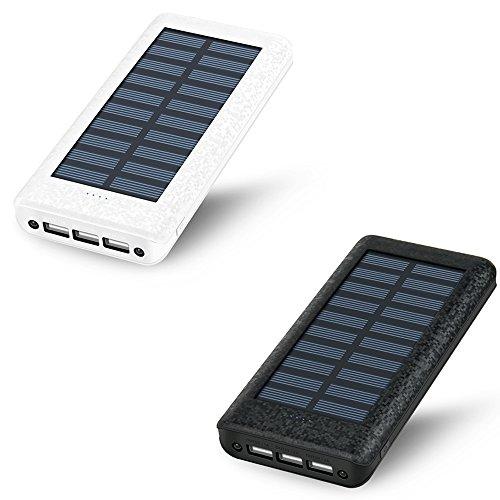 HuaFu ソーラーチャージャー モバイルバッテリー 超大容量 24000mah 3USB出力ポート(2A+2ARaQoo通販