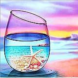 LeePakQ Diamond Painting Kits Beach Full Drill Starfish Paint with Diamonds Beach Diamond Art Rhinestone Embroidery Pictures