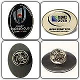 2019 ラグビー ワールドカップ ピンバッジ 2個セット 紺 白 W杯 バッチ