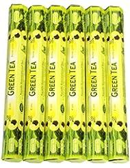 Tulasi グリーンティー(GREEN TEA)香 スティック 6角(20本入り)×6箱 HEXAPACK