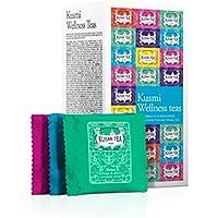 (KUSMI TEA) クスミティー ウェルネス ティー エンベロープ ティーバッグ 2.2g×24袋入り(6種類、各4袋入り) [正規輸入品]