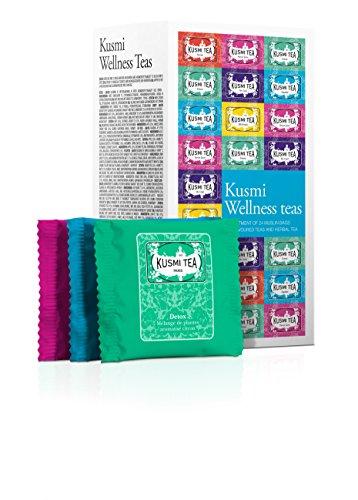 (KUSMI TEA) クスミティー ウェルネス ティー エンベロープ ティーバッグ 2.2g×24袋入り(6種類、各4袋入り)