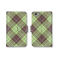 SONY Xperia A4 SO-04G 手帳型 ケース カバー スマホケース スマホカバー 携帯ケース 携帯カバー 【ナチュラル チェック】 (5-グリーン) ソニー エクスペリア エースフォー docomo q0944-c0165-lec-1