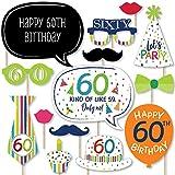 幸せの大きなドット 60歳の誕生日 陽気なハッピーバースデー カラフルな6歳の誕生日パーティー写真ブース小道具キット 20個