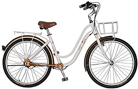 26 レトロスタイルの3ギアシャフトドライブ女性、自転車、シティバイクのチェーンコミューターバイクファーラード無し