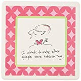 CoasterStone SQ01627 Absorbent Coasters, 4-1/4-Inch, 'More Interesting', Set of 4 [並行輸入品]