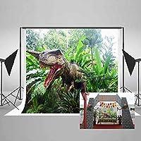 Meets 7x 5ft Jurassic Park Backdrop恐竜グリーン植物写真背景テーマパーティー写真ブースYoutube Backdrop gemt886