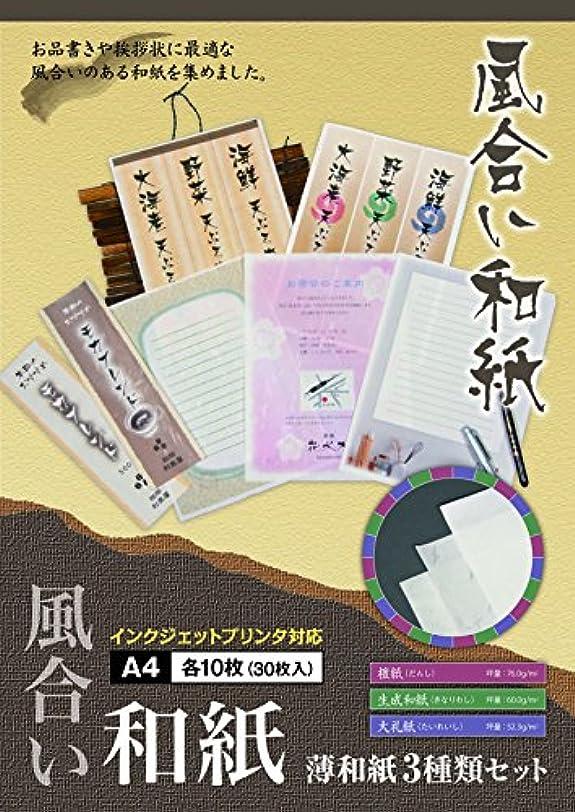 作家認めるペインギリックToo 風合い和紙 薄和紙3種類セット A4 FW-UA4