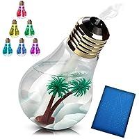 masibena(マシベナ) 卓上 加湿器 電球型 USB 大容量 400ml LED搭載 オフィス用 会社 家庭用 (ヤシの木あり)