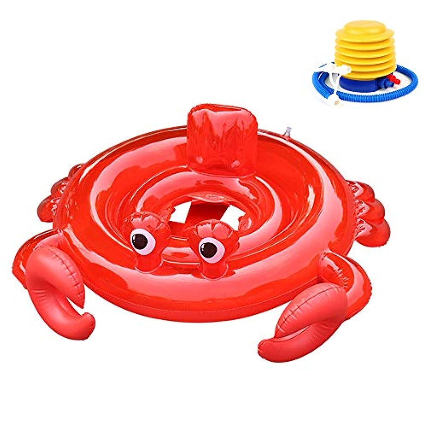 議論する擁する下に子供用浮き輪 足入れ式 暑さ対策 可愛い 水泳用品 足踏み式ポンプ付き
