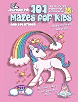101 Mazes For Kids: SUPER KIDZ Book. Children - Ages 4-8 (US Edition). Cartoon Stars Rainbow Unicorn Pink w custom art interior. 101 Puzzles w solutions - Easy to Very Hard learning levels -Unique challenges and ultimate mazes book for fun activity time! (Superkidz - Unicorn 101 Mazes for Kids)