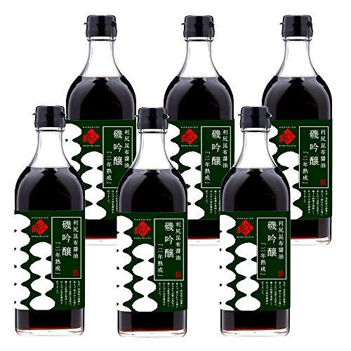 【利尻昆布 醤油】島の人 「磯吟醸」 500ml ×6本 【長期保存可能】 刺身 醤油 しょうゆ