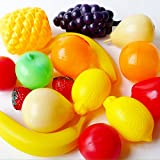 Fruits and Vegetables Kitchen Pretend Play Set Educational Plastic Party Toy for Kids and Children
