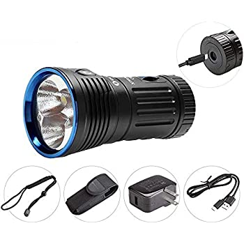 Olight X7R MARAUDER最大12000ルーメン 高輝度 ハイ・パワー 充電式 LED懐中電灯 3 x Cree XHP70 CW LED搭載 LEDライト 防水 6段階切替 LED懐中電灯 ハンディライト電池・調光センサー ・近接センサー搭載・USB Type-C充電 4 x 18650 充電池付き (Olight X7R MARAUDER)