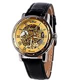 2013newestsellerクラシックメンズブラックスケルトン機械スポーツArmy腕時計