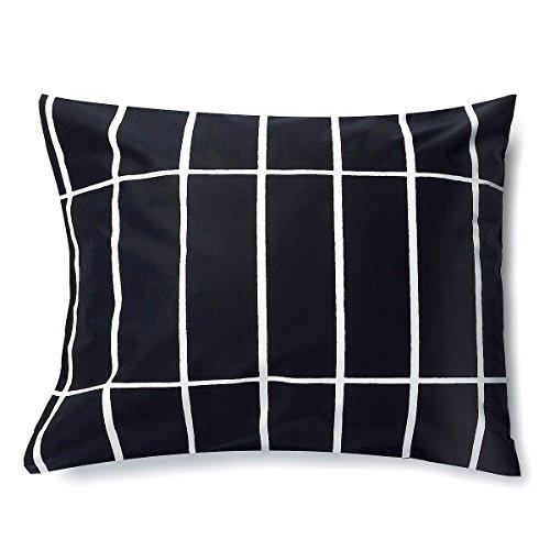 マリメッコ(marimekko) ティイリスキヴィ TIILISKIVI DC 枕カバー 67585-910 50x60cm ブラック [並行輸入品]