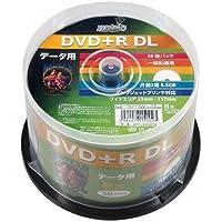 磁気研究所 HIDISC DVD+R DLデ‐タ用メディア レーベル ワイドタイプ プリンタブル白50枚スピンドル HDD+R85HP50 12個セット