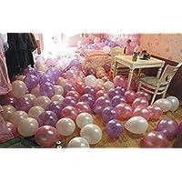 ROZZERMAN 風船 バルーン 50個 セット 空気入れ付き お姫様カラー ウェディング パーティ 記念日 お祝い g63