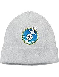 SmokyBird ニットキャップ ニット帽 ビーニー 防寒 ワッチ CAP 自衛隊グッズ 海軍シンボル ミリタリー 爽やか 錨 航海