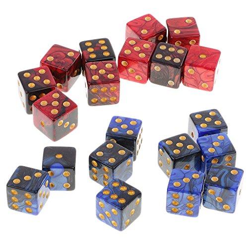Lovoski 約20個 6面 サイコロ D6骰子 MTG RPGゲーム用