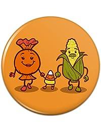 キャンディコーンファミリーハロウィーンピンバックボタンピンバッジ - 1