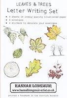レターセット 木の葉 便箋8枚 ステッカー4枚 封筒4枚 イギリス