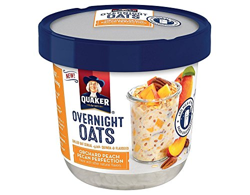 Quaker Overnight Oats Orchard Peach Pecan Perfection クエーカーオーデナイトオーツオーチャードピーチピーカンパーフェクション70g x 3個 [並行輸入品]