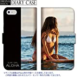 chatte noir Galaxy S9プラス 手帳型 ケース SCV39 SC-03K ケース ギャラクシー S9+ 手帳型 おしゃれ サーフィン surfgirl ALOHA 海 ..