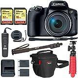 Canon PowerShot SX70 HSカメラ メモリーカード、三脚、カメラケース、アクセサリーバンドル