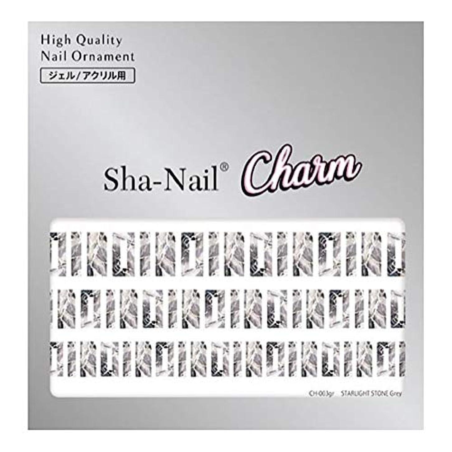 適合する適用するキーSha-Nail Charm(シャネイルチャーム) Sha-Nail Charm スターライトストーン グレー 1枚