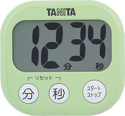 タニタ でか見えタイマー100分計 グリーン キッチンタイマー 1個