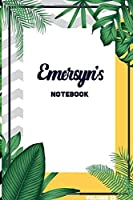 Emersyn's Notebook Volume 25: Lined Personalized and Customized College Ruled Name Notebook Journal for Men & Women & Boys & Girls