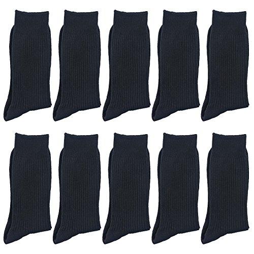 Smartdoo(スマートドゥ) ソックス メンズ 靴下 抗菌 防臭 ビジネスソックス 綿 25~28cm 黒 ネイビー チャコール 10足セット