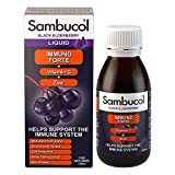 Sambucol Immuno Forte Black Elderberry Liquid with Vitamin C & Zinc, UK Version, 120ml