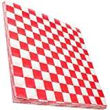Avant Grub Deli Paper 300 Sheets. Turn Your Backyard Cookout Party into a Classic Drive-in with Red & White Checkered Food Wr