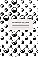Religious Art Inspirational, Motivational and Spiritual Theme Wide Ruled Line Paper