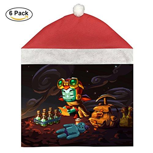 Steamworld Digソフトクリスマス椅子カバーのセット祭の装飾6pcs。