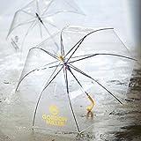 GORDON MILLER 大きい 透明ジャンプ傘 イエロー 60cm×8本骨 耐風グラスファイバー骨 ビニール傘